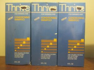 Lot of 3 THRIVE  FOR THINNING HAIR conditioning SHAMPOO 8 oz