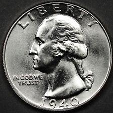 1940 Washington Quarter.  Choice B.U.  (INV.A)