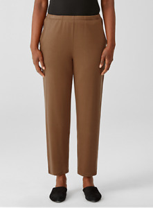 Eileen Fisher Cozy Brushed Terry Tapered Ankle Pant, Hazel, Medium, NWT