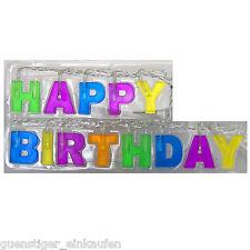 CADENA DE LUCES LED Happy Birthday 13 LEDS Colorido Letras 1,5metro Decoración