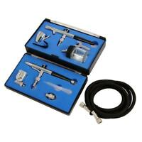 Dual Action Airbrush Kit -includes 2 airbrushes ideal for craft & Hobbies