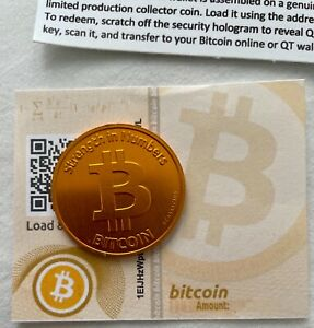 Casascius Bitcoin Cold Storage Coin CLASSIC COLLECTABLE Unused INVESTMENT OPP