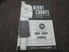 More details for derby county  v  liverpool  1961/2  ~ october 21st        *****free post*****