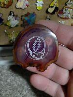 The Grateful Dead Jerry Garcia's Steely 13-point Bolt agate enamel lapel hat pin