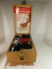Vintage Manning-Bowman Electric Shoe Polisher w/Brushes & Shoe Shine Box - WORKS