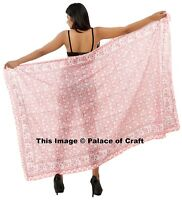 Indian Sarong Pareo Scarf Cotton Floral Print Summer Beach Dress Bikini Cover Up