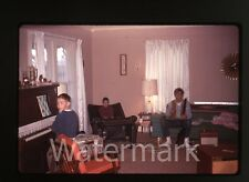 1960s  35mm amateur  photo slide  boys with guitar piano  Comic Book