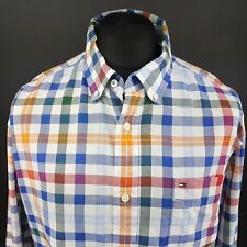 Tommy Hilfiger Mens Shirt LARGE Long Sleeve Multicoloured Classic Fit Check