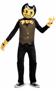 Classic Bendy and the Dark Revival CHILD Boys Costume NEW