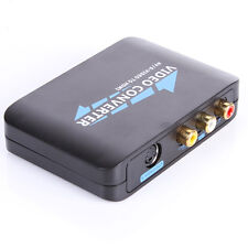 NEW S-Video & Composite RCA to HDMI Converter AV Adapter R/L Audio 1080P Scaler