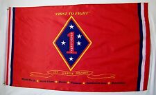 1st Marine Division Usmc Flag 3' x 5' Indoor Outdoor First to Fight Banner
