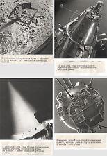 Sammlung 6 Fotos Weltraum, russ. beschriftet, 1958/59