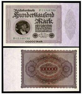 HUGE 1923 100,000 MARKS! PICK VF+ (BUY 1 PRICE) AU (BUY 2 PRICE) GEM (BUY 3 PRIC