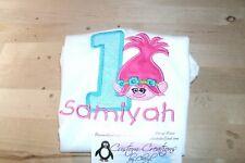 Trolls Poppy Girl 1st Birthday Personalized Birthday Shirt