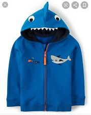 Gymboree Whale Hello There 12-18 Months Nwt Blue Boy Shark Zip Up Hoodie Zip Up