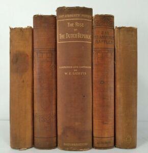 1882-1898~BUILDERS OF GREAT BRITAIN~Antique 5 Brown Book Lot~DUTCH REPUBLIC~Rare