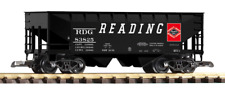 Piko G Scale 38837-858 Two Pack of Reading Hopper Cars (Offset Side)(Covered) HH