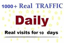 1000 Real Human Visitors Per Day Your Website Traffic 10 Days 70% USA Traffic