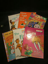 Dr. Seuss Children Kids Hardcover 5,  one paperback  Green eggs, The tooth book