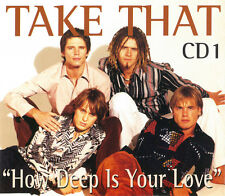 TAKE THAT HOW DEEP IS YOUR LOVE CD 1 UK 4 TRACK CD SINGLE FREE P&P