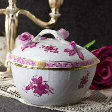 Heart-Shaped Porcelain Container Herend Apponyi Purple