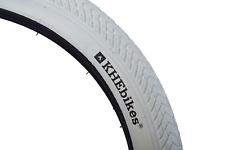 "KHE MVP 20"" x 2.30"" Dirt Pattern BMX Freestyler Bike Tyre Off-Coloured White"