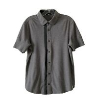 Kit and Ace Court Stretch Gray Cotton Blend Button Down Shirt Large L #b012
