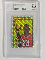 1985 Prism Jewel Stickers Michael Jordan Rookie Card RC Beckett 7.5
