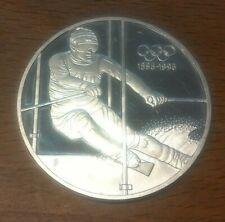 SILBER 200 Schilling 1995: Schifahrer 100 Jahre Olympia 33,6g 925er , offene PP