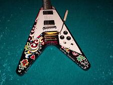 Psychedelic Gibson Jimi Hendrix  Flying V guitar Vintage design vee