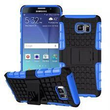 Blue Strong Tradesman Dual Layer Tough Case Cover for Samsung Galaxy Note 5