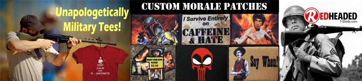 Redheaded T-shirts & Morale Patches