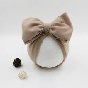 Cotton Baby Hat Infant Cap Newborn Beanie Top Bow Knot Photography Props Turban