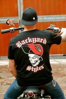 Shirt Hot Rod V8 Kustom Kulture Garage us cars Rat Racer Backyard Stylez Harley