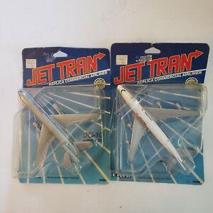 2 1988 ERTL Jet Tran American Airlines Diecast 747 American DC-10 United NOS
