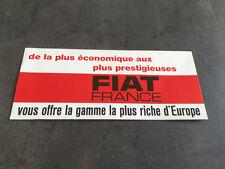 CATALOGUE FIAT GAMME  en français   I86