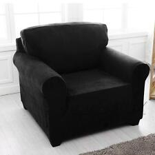 Easy Stretch Couch Sofa Lounge Covers Recliner 1 2 3 4 Seater Dining Chair Cover 3 Seater(190-230cm) Black