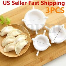3pcs Dumpling Mold Pierogi Turnover Ravioli Empanada Dough Press Mould Maker