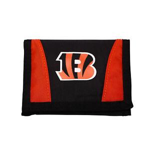 New Licensed Football Cincinnati Bengals Wallet Nylon Tri-Fold Chamber Wallet