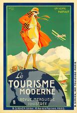 Travel Le Tourisme Moderne Air Plane  Deco  Art  Poster Print