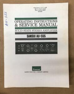 Sansui AU-555 Amplifier Service Manual *Original*