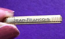 BROCHE ÉPINGLETTE EN OR VINTAGE marque MURAT gravée Prénon JEAN-FRANÇOIS