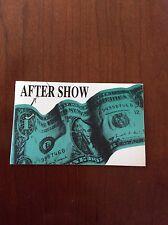 Nirvana After Show Backstage Pass Silk