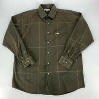 Alex Cannon Mens Shirt Size XL Plaid Button Down Long Sleeve Woven Casual Brown