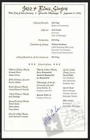 1994 Blues & Jazz Legends Sc 2854-61 Program issued at event, signed PM
