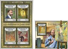 Gustav Klimt Art Paintings Niger MNH stamp set