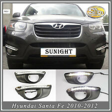 DRL Fog lamp  for Hyundai Santa Fe 2010-2012 Sncn LED daytime running light