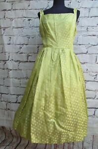Vintage 1950's Sophia Szagun for Betty Barclay silk cocktail dress size 12