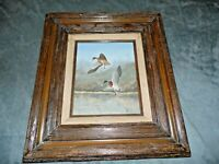 Vintage 1982 Tom Trapp Signed Original Oil Painting Ducks in Flight  Frmd 8 x 10