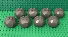Lego X8 New Dark Bluish Gray Rock Boulder / Complete Top And Bottom Parts Lot